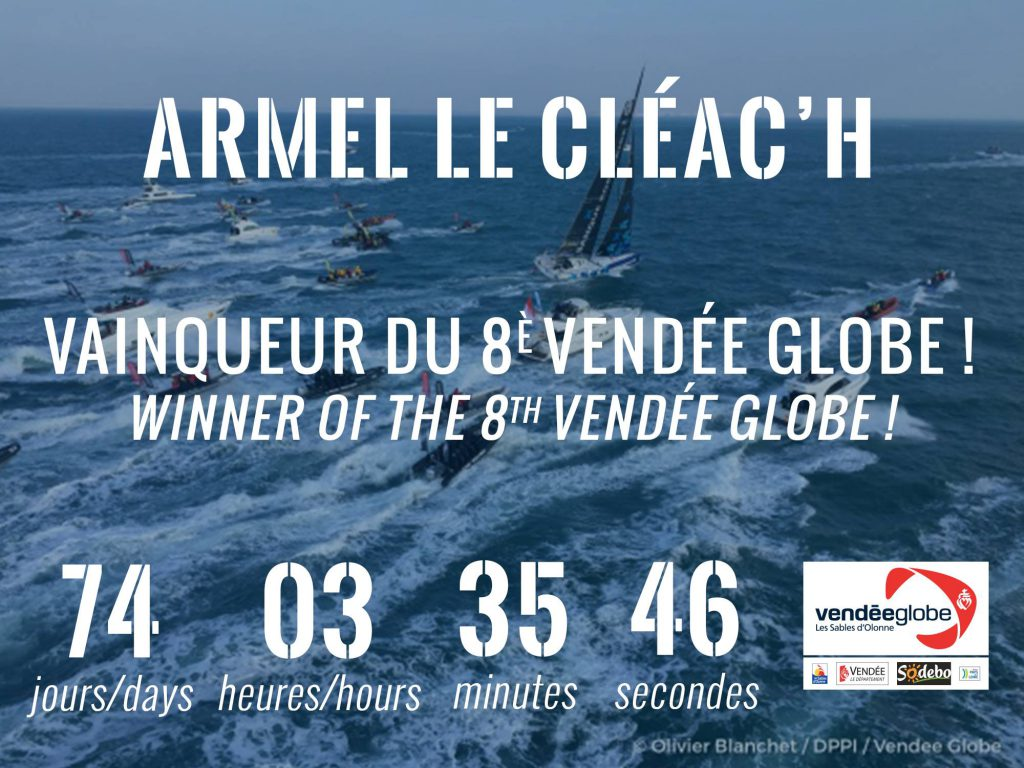 record-bravo-armel-le-cleach-vendee-globe-gyoztes-2016-2017-winner-champion-sailing-vitorlazas-hajozashu