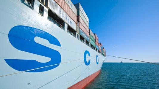 Cosco Shipping Kontenerhajo Teherhajozas HAJOZASHU Vasuti szallitas