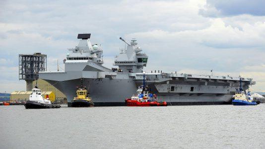 HMS Queen Elizabeth Brit Hadihajo Haditengereszet Amator Dron HAJOZASHU