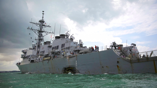 USS John McCain Rombolo Hadihajo Tengereszek Holtteste Hajokatasztrofa HAJOZASHU