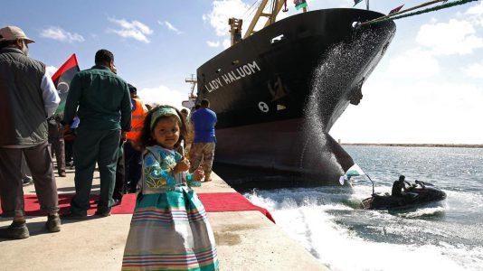 Benghazi Libia Port Harbour Kikoto Ujranyitas Harcok HAJOZASHU