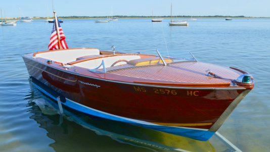 John F Kennedy Speedboat Wood Motorcsonak Arverezes HAJOZASHU